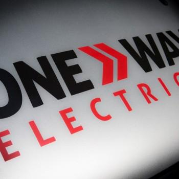 one way electrical logo